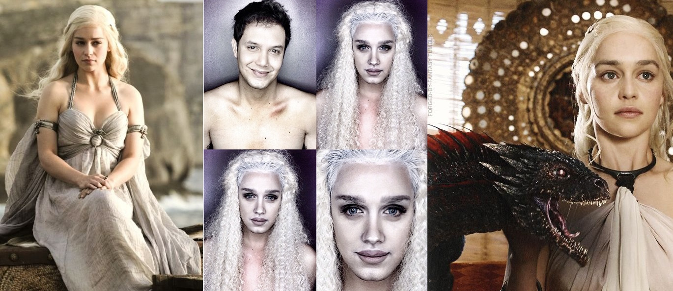 Makeup Transformation Daenerys Targaryen