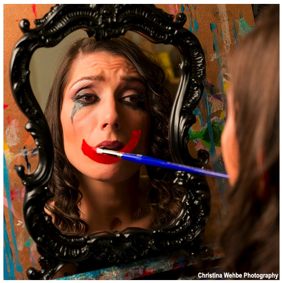 Quadriplegic mouth painter Mariam Pare
