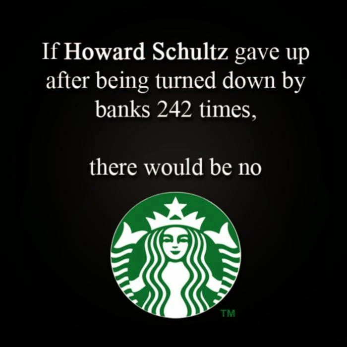starbucks don't give up, keep going