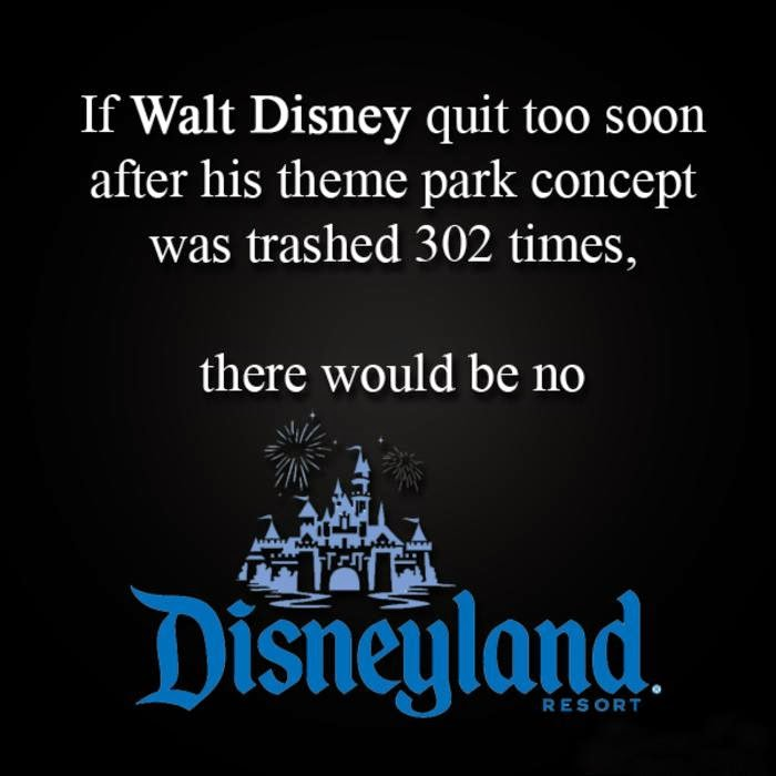 disneyland don't give up, keep going