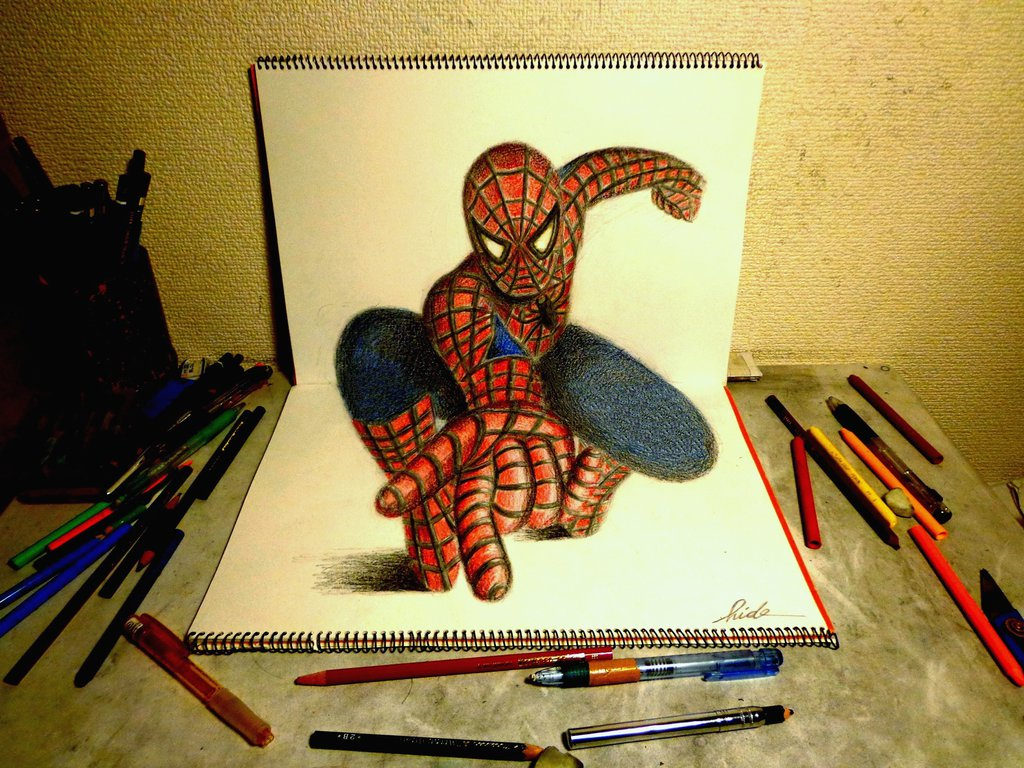 Artist Uses Two Sketchpads To Create Amazing 3D Artworks