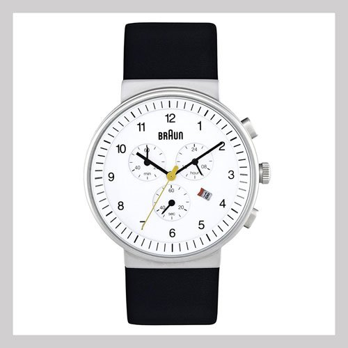 Braun Chronograph Watch with Leather Band