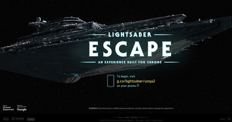 Lightsaber-Escape