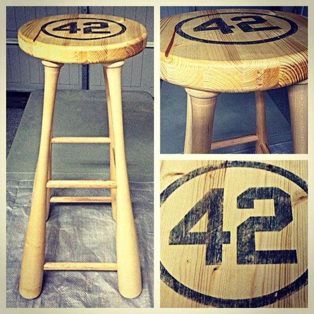 Baseball bat stool