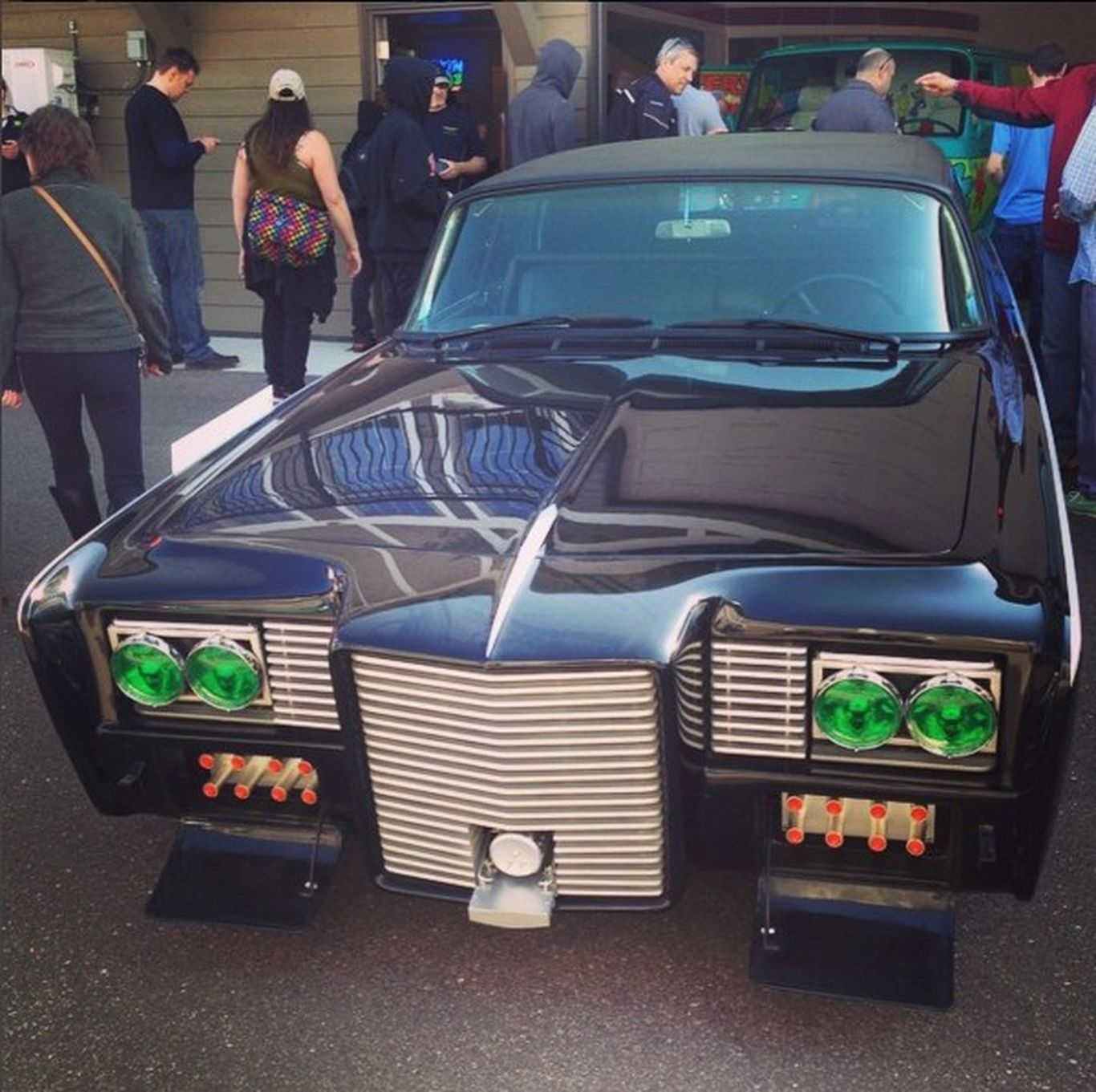 Chrysler Imperial Crown styled after the car Black Beauty from The Green Hornet TV show