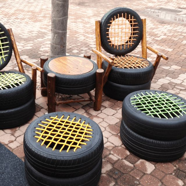 Old tires chair