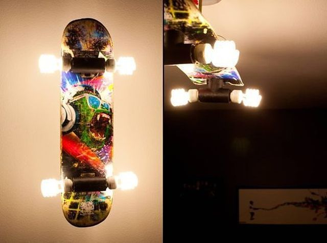Skateboard lighting