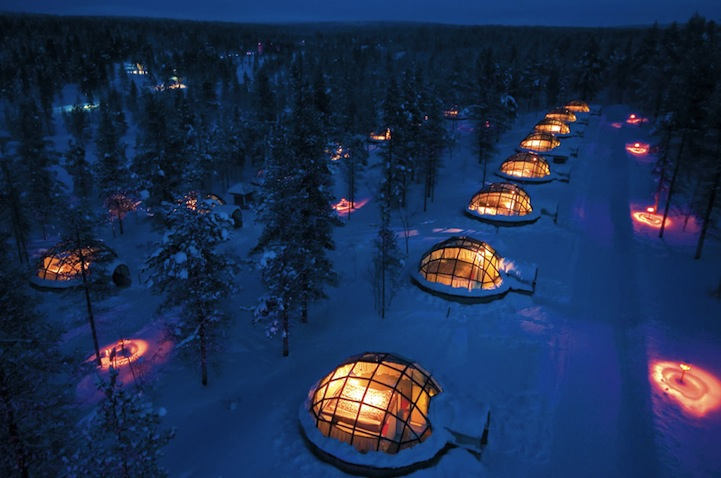 Glass Igloo with Amazing Northern Lights Views in Finland