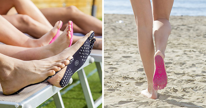 NAKEFIT! The New Stick-On Soles Where You Can Go Barefoot Anywhere!