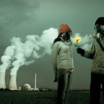 male and female wearing gas mask - toxic relationship