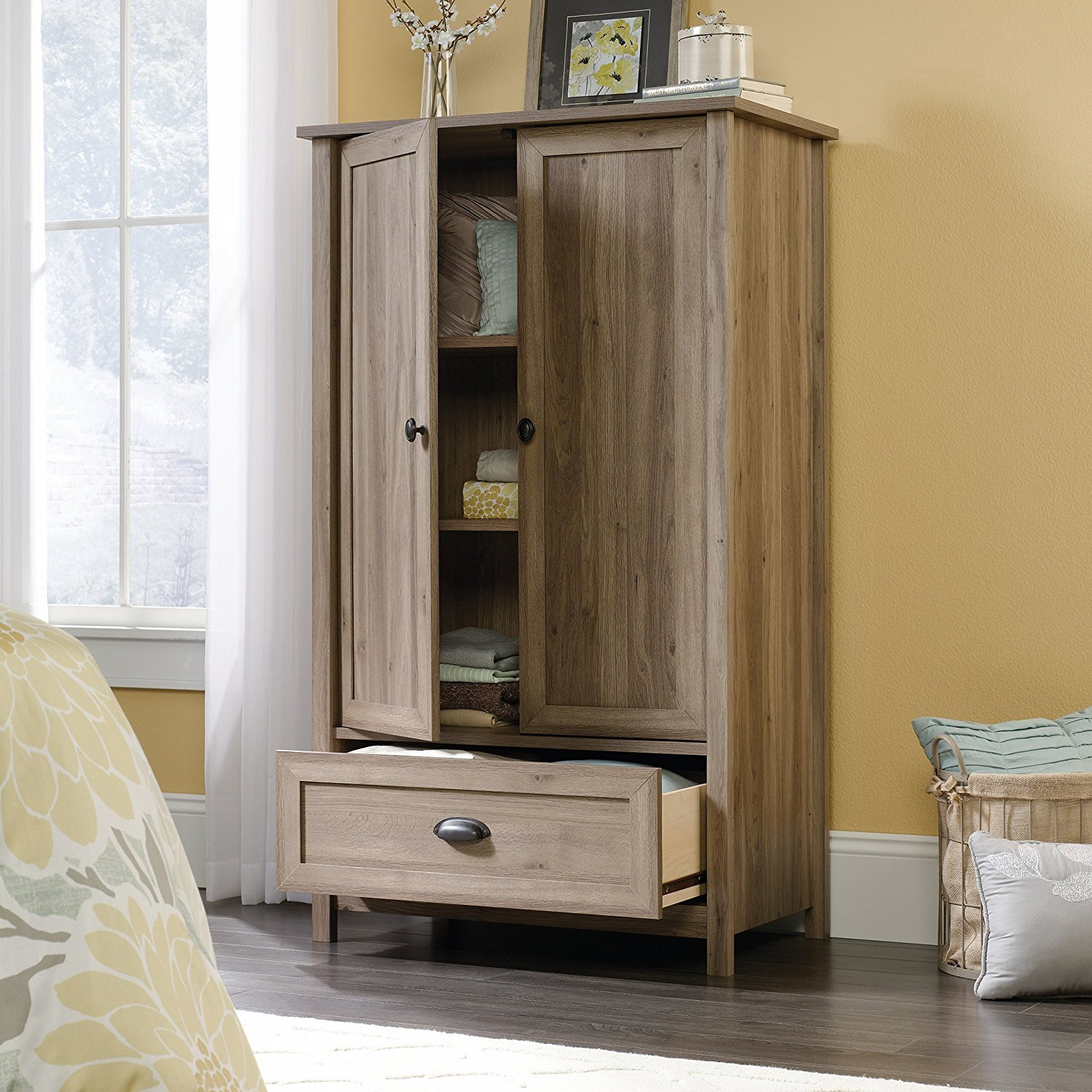 Etonnant Sauder 419458 Bedroom Armoire (Salt Oak)
