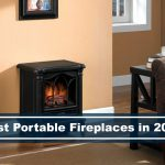 portable fireplace in living room decor