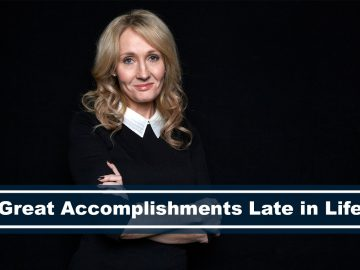 jk rowling celebrity with great accomplishments late in life