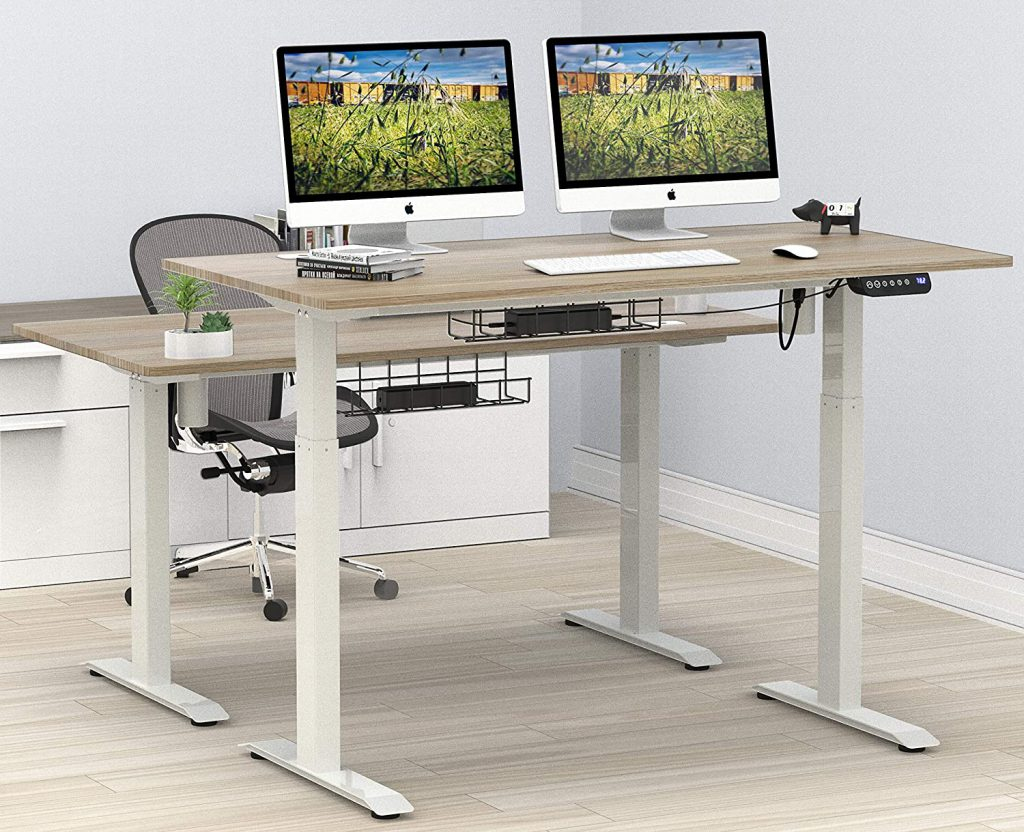 Best SHW Large Home Office Electric Standing Desk