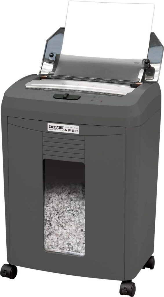 boxis paper shredder for the office with tray